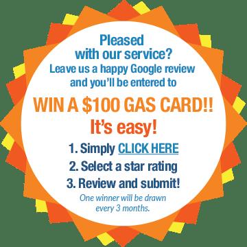 Win a $100 Gas Card!